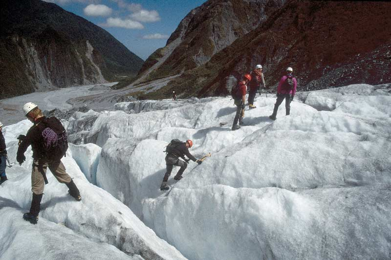 Walking on Fox Glacier, South Island, New Zealand