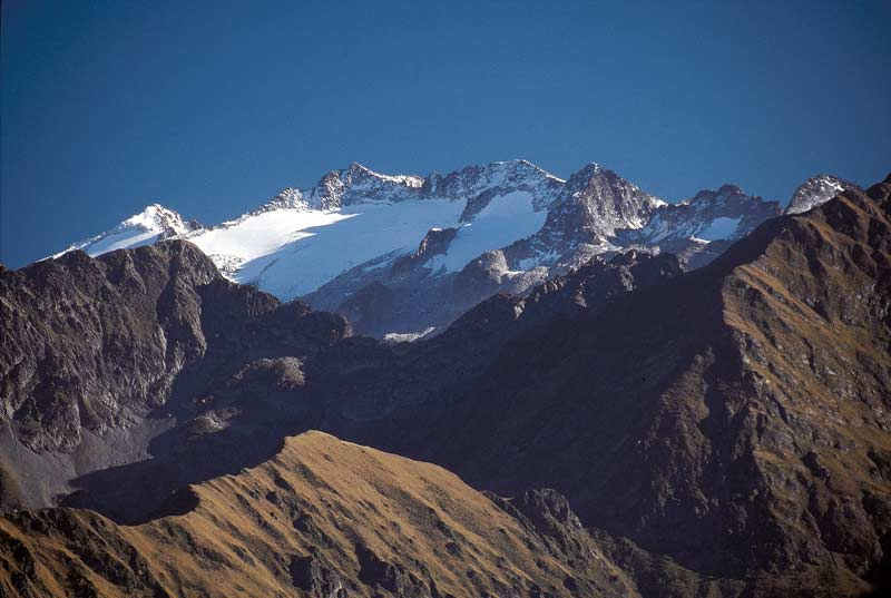 View of Pico Aneto in Spain, taken from Superbagneres, abouve Luchon.