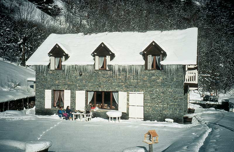 La Feniere in winter, before extention was built.
