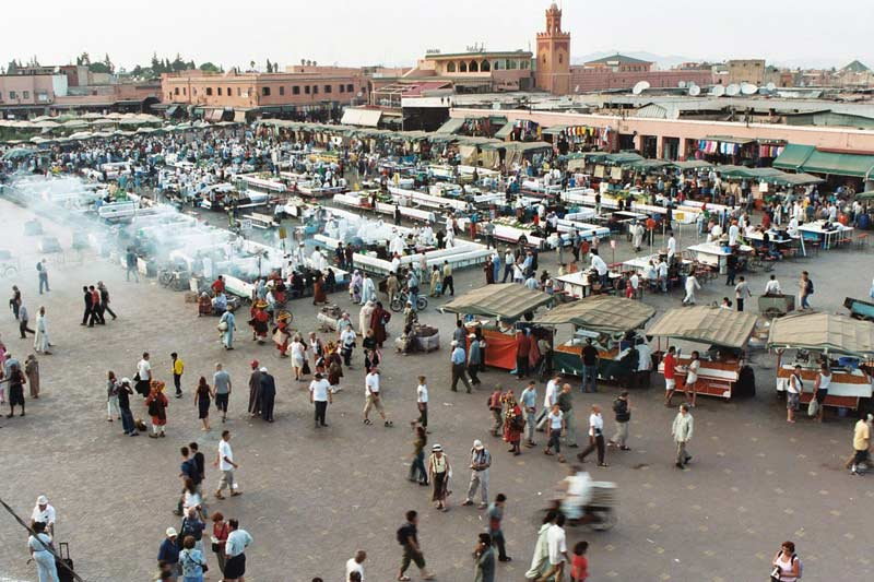 Djemma el Fna square in Marrakech