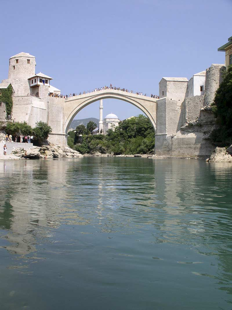 The re-built Mostar bridge