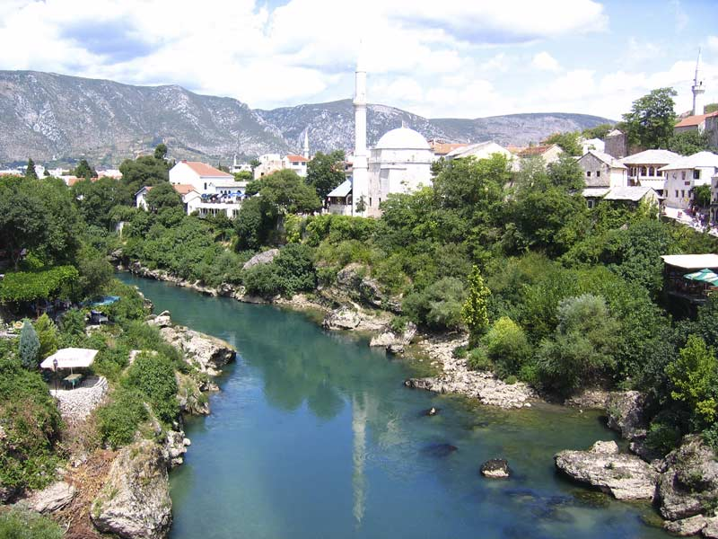 mostar situated on the neretva river