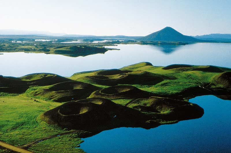 Lake Myvatn, highlight of North Iceland