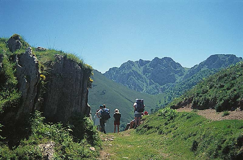 Trekkers in the Picos de Europa