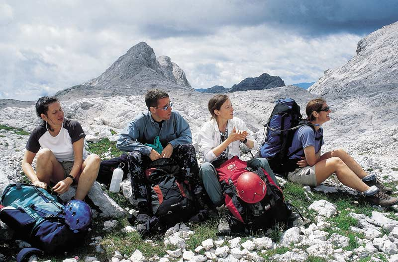 Resting in front of Mount Triglav, the highest in Slovenia