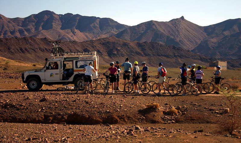Cycling Group in the Jebel Sahro