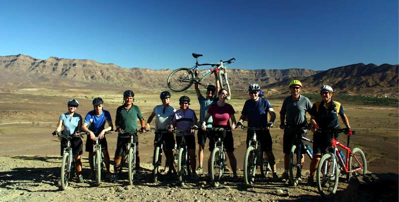 Cycling Group in Southern Morocco