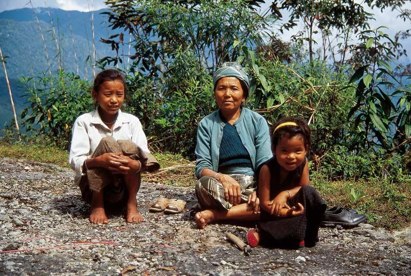 Woman and Girls in Darjeeling