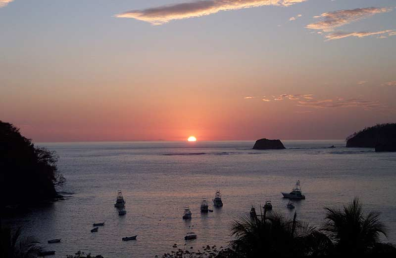 Sunset over San Juan del Sur beach