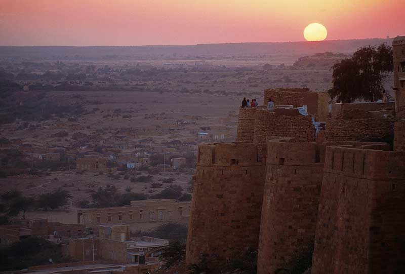 Sunset over Jodhpur fort