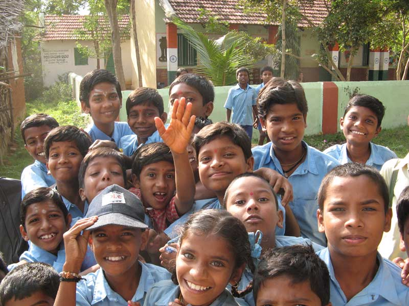 Indian schoolkids, near Mysore