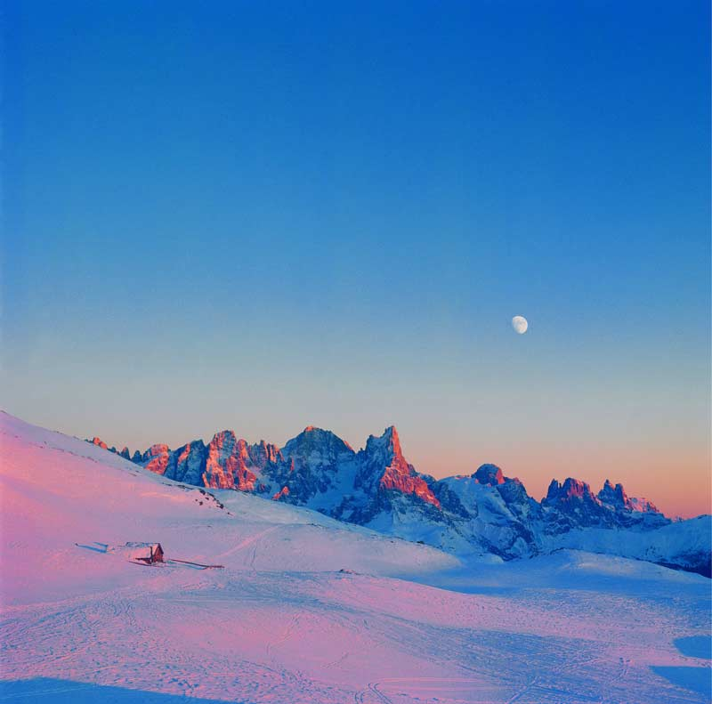 Snowy Dolomites by moonlight