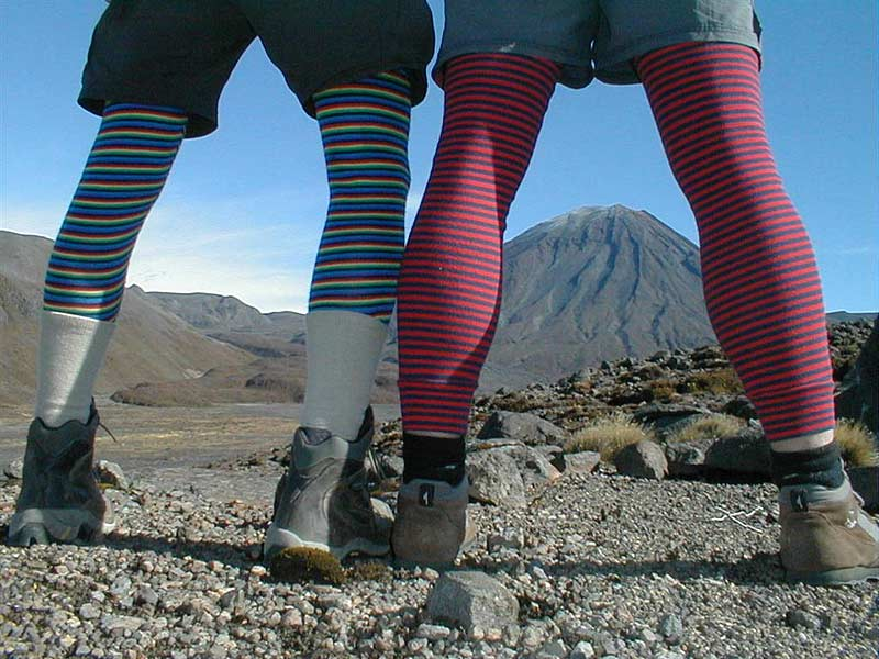 Fashion on trek, Tongariro