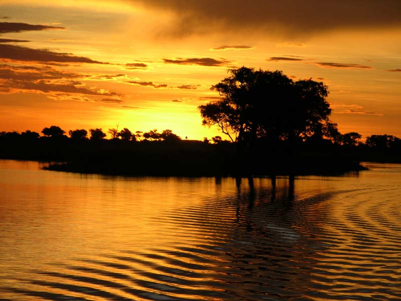 Sunset Cruise on Chobe River, Botswana