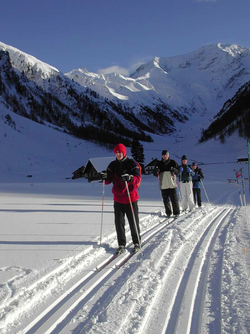 Cross-country skiing in the Trins valley