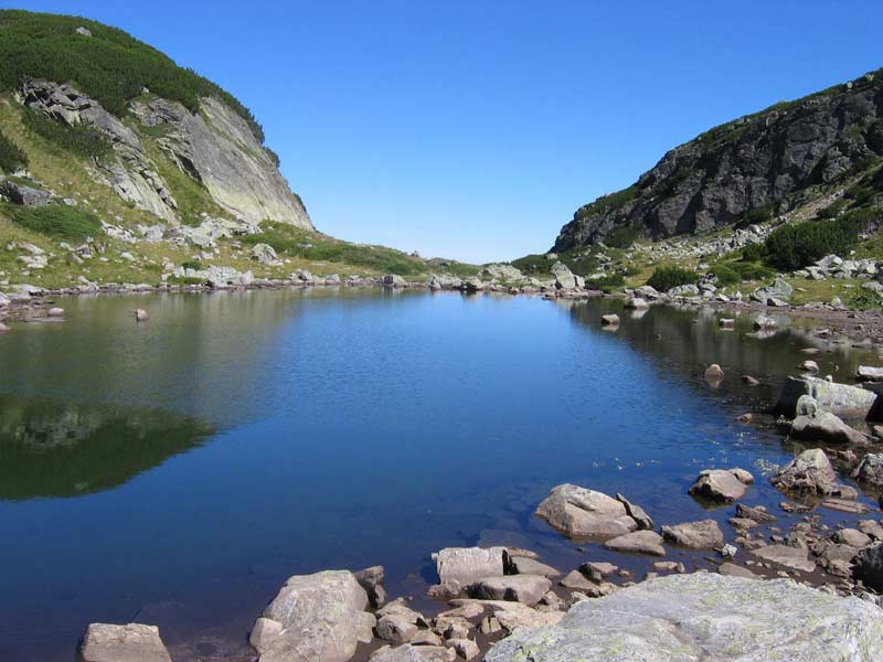 Picturesque lake in Rila