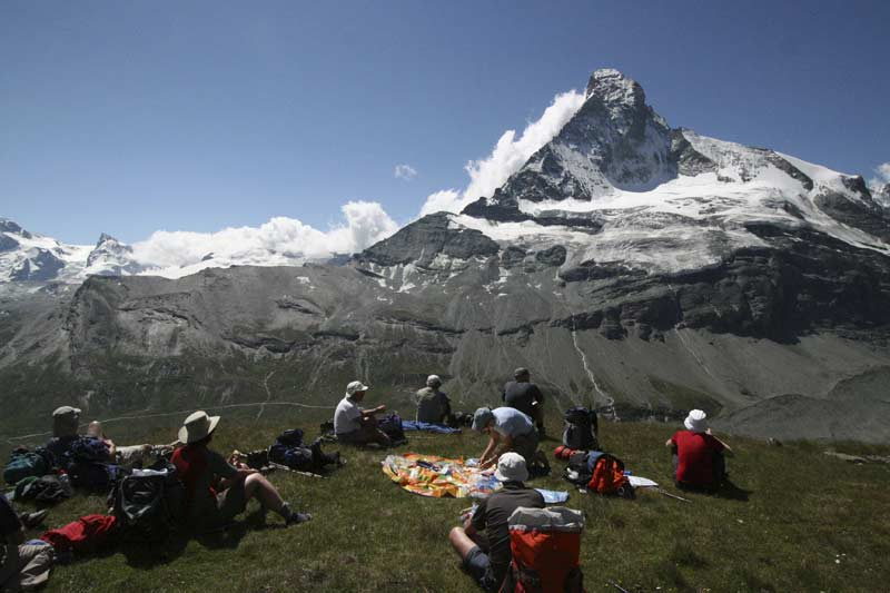 Picnic in the shadow of the Matterhorn