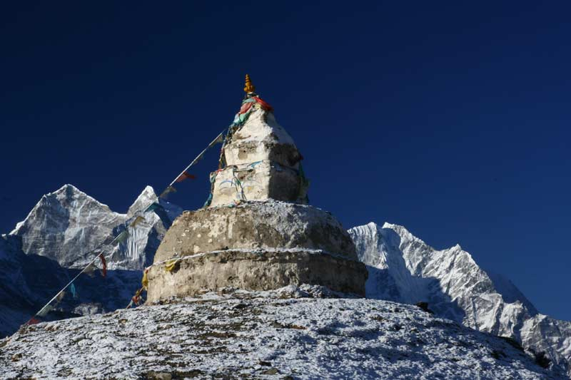 Stupa above Dingboche, Everest Base Camp Trek.