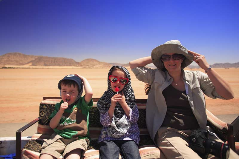 Family sightseeing, Wadi Rum