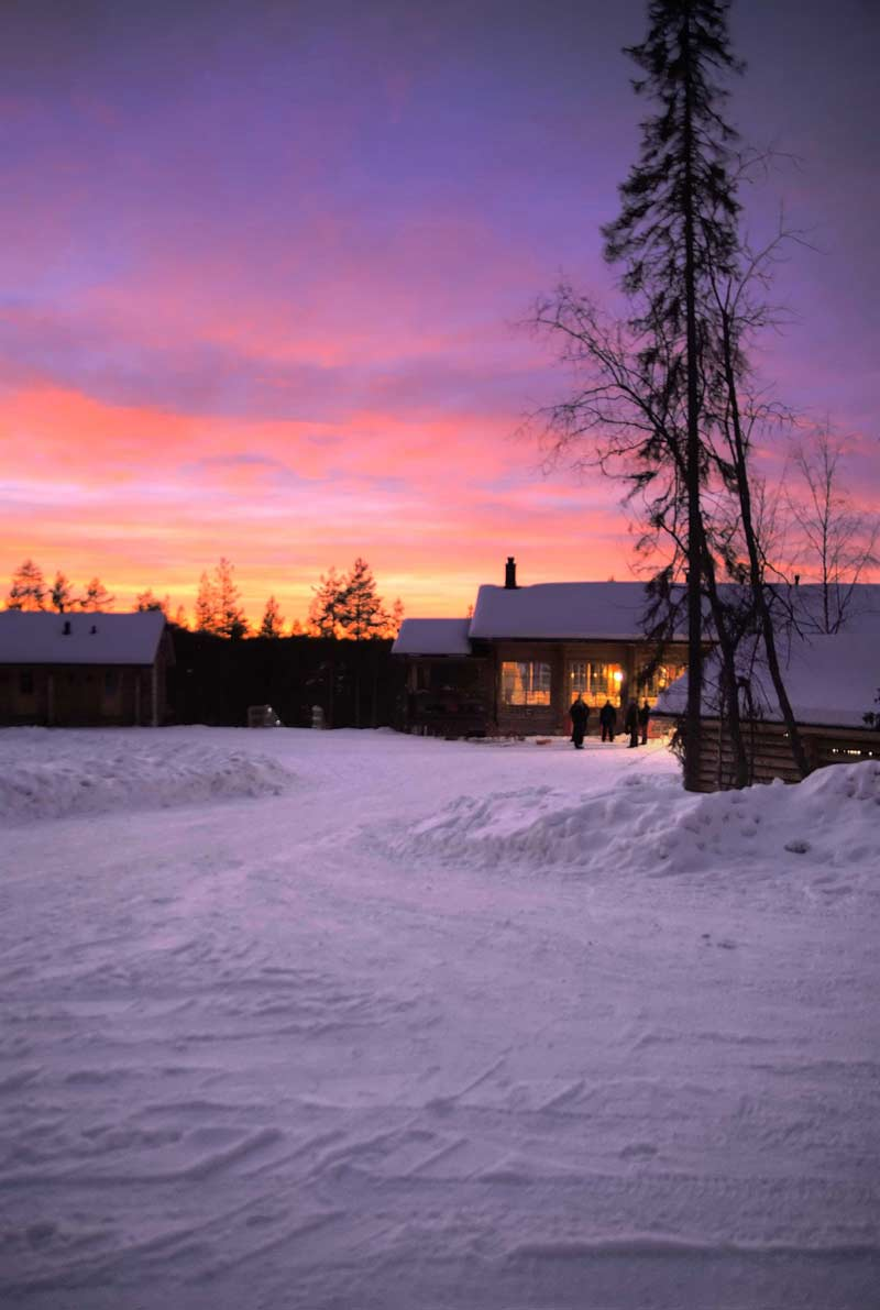 Sunset at Basecamp Oulanka