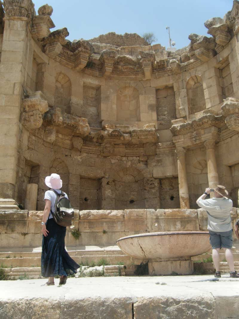 Historic ruins in Jerash