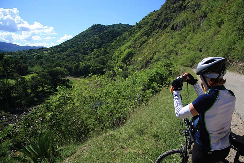 Cyclists photographing, Sierra Maestra