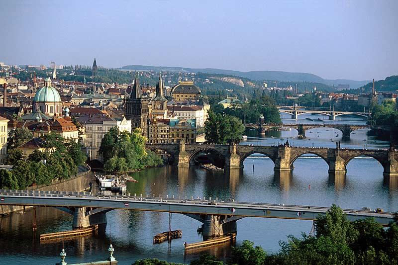 Vtalva River in Prague