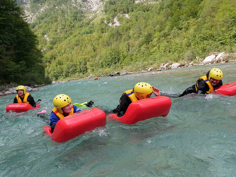 Hydrospeeding down the Soca River