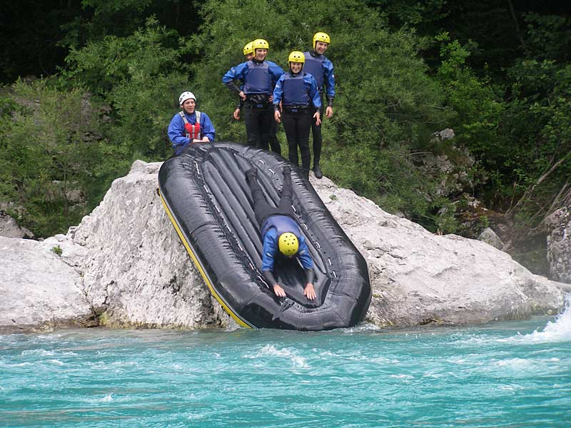 Slide stop on the Soca River