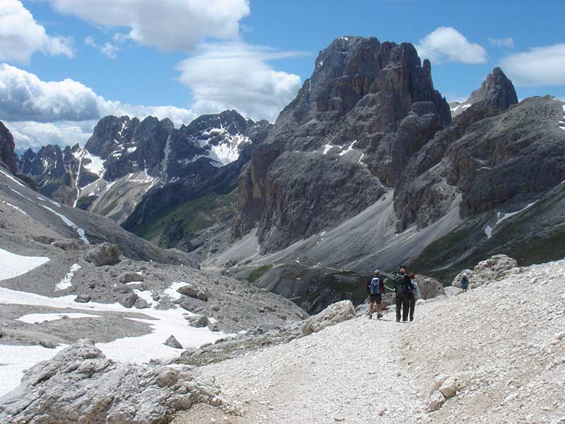Walking in the Western Dolomites