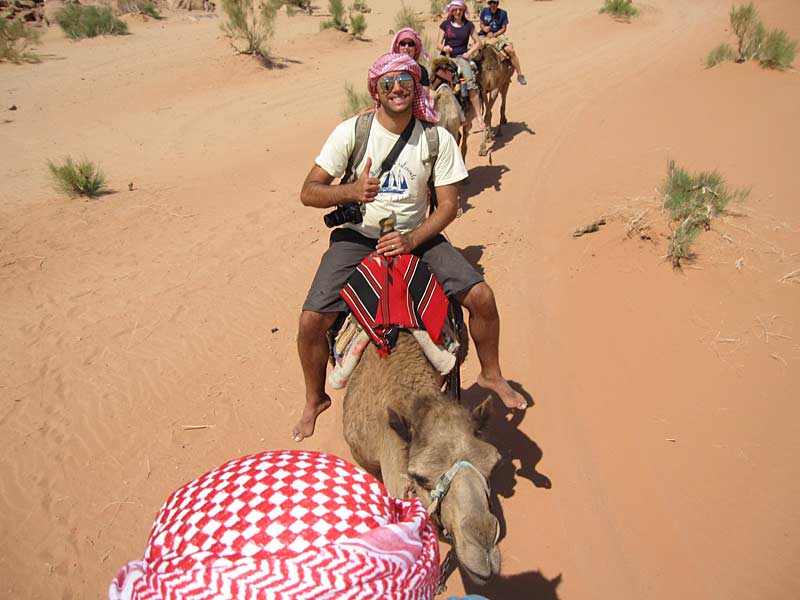 Camel trek in the Wadi Run