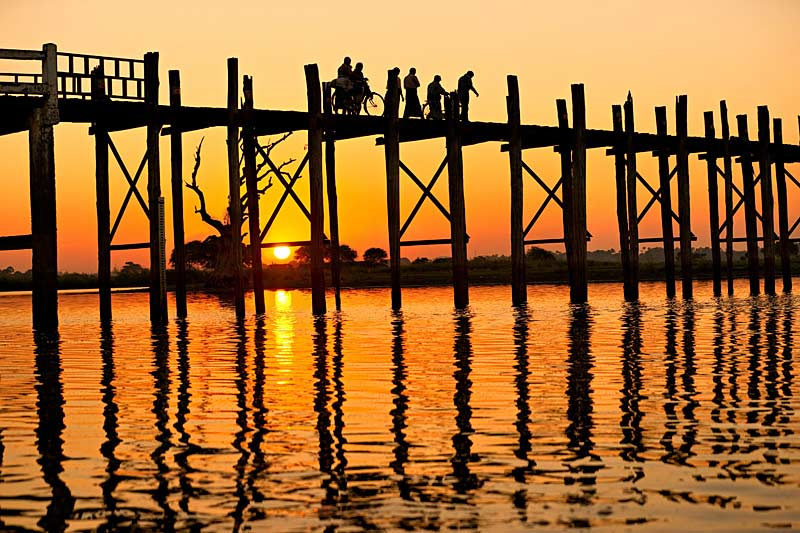 U bein bridge at Amarapura ,Mandalay
