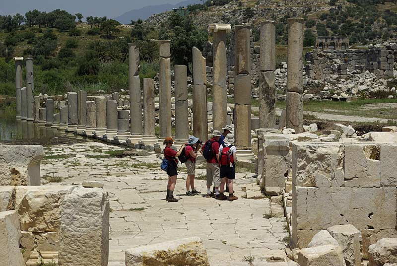 Group at the ruins in Patara National Park