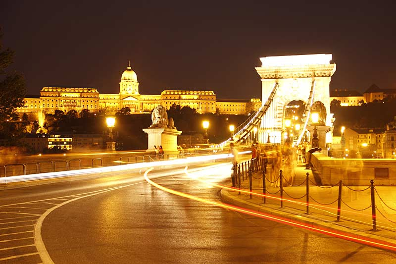 Road to Chain Bridge, Budapest