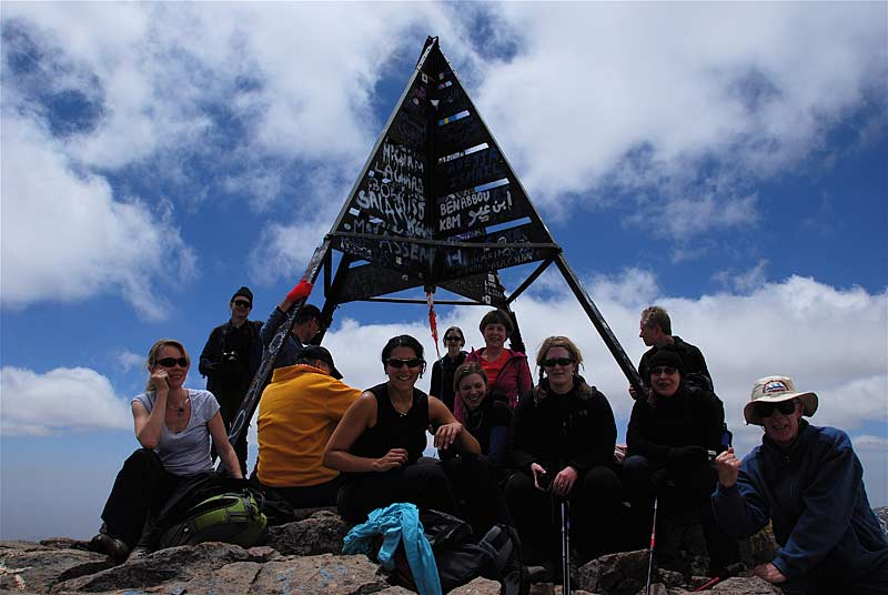 Group at the summit of Toubkal