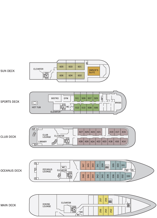 Sea Spirit ship plan