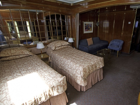 This is a Main Deck cabin with twin beds and sitting area